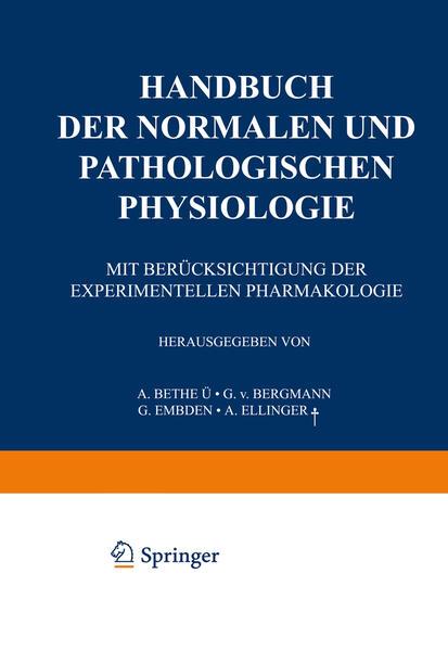 Handbuch der normalen und pathologischen Physiologie - Coverbild