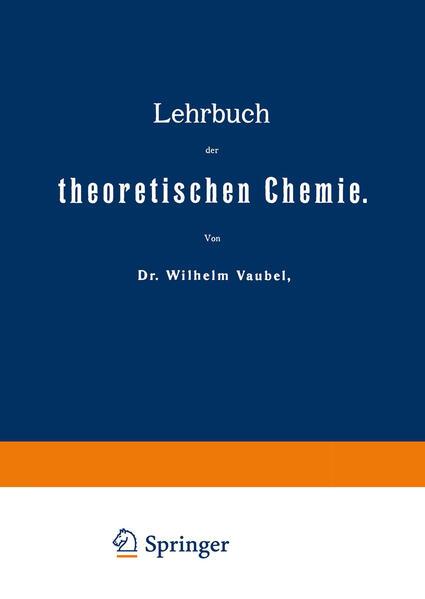 Lehrbuch der theoretischen Chemie - Coverbild