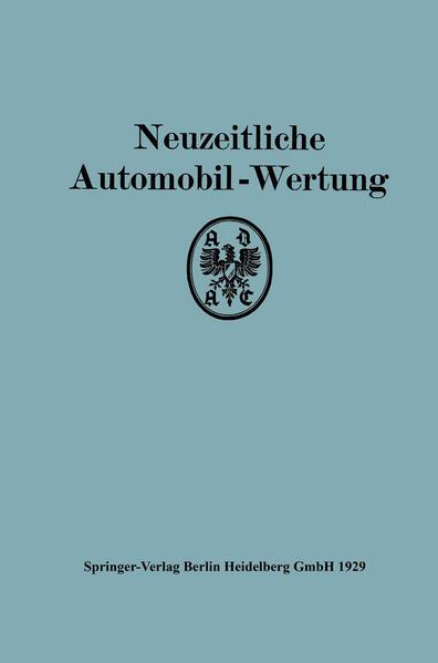 Neuzeitliche Automobil-Wertung - Coverbild