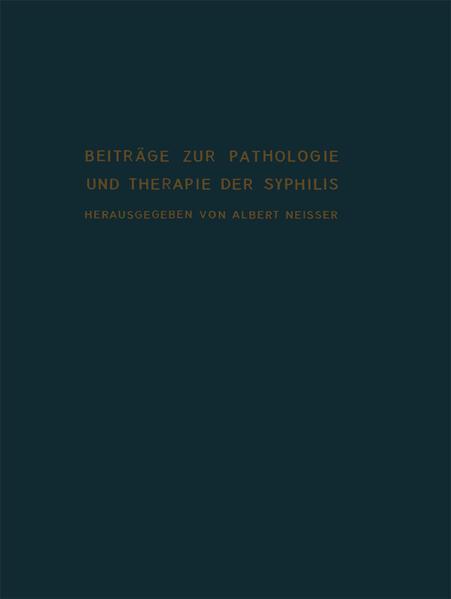 Beiträge zur Pathologie und Therapie der Syphilis - Coverbild