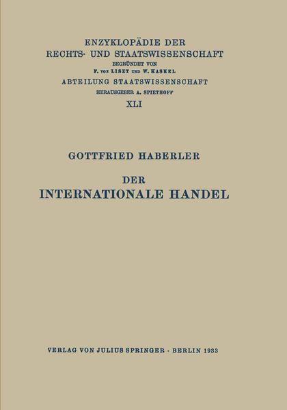 Der Internationale Handel - Coverbild
