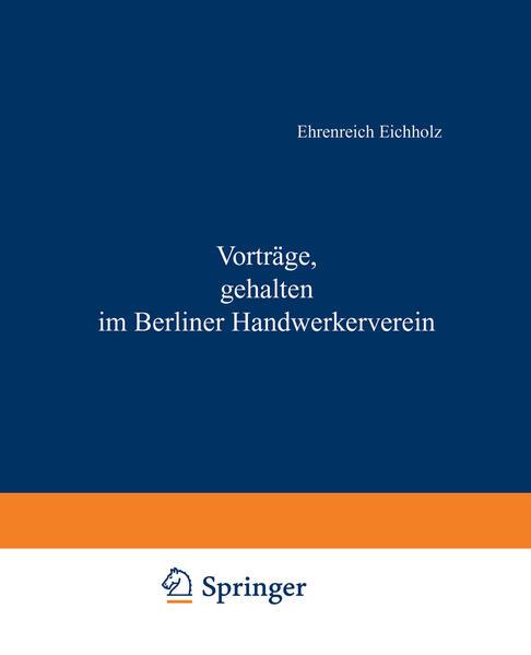 Vorträge, gehalten im Berliner Handwerkerverein - Coverbild