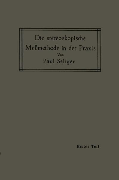 Die stereoskopische Meßmethode in der Praxis - Coverbild