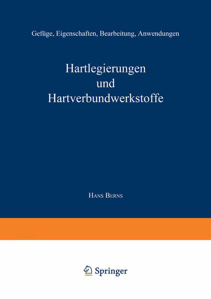 Hartlegierungen und Hartverbundwerkstoffe - Coverbild