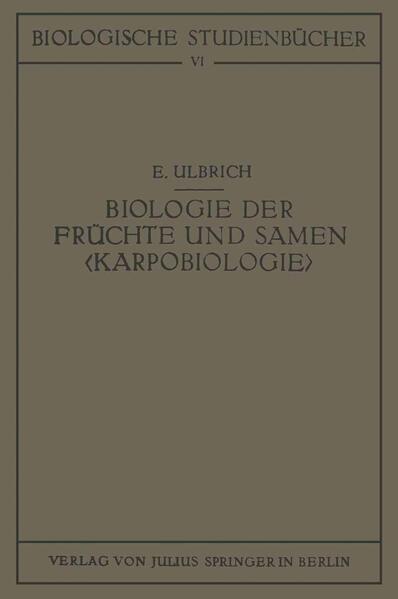 Biologie der Früchte und Samen ‹Karpobiologie› - Coverbild