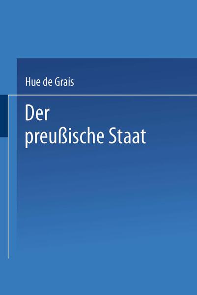 Der preußische Staat - Coverbild