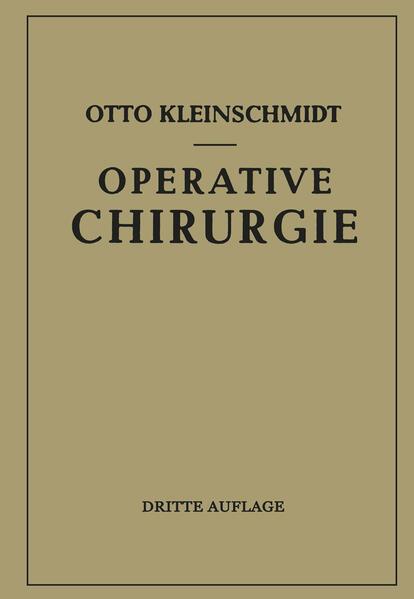 Operative Chirurgie - Coverbild