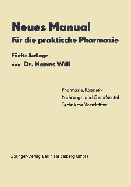 Neues Manual für die praktische Pharmazie - Coverbild
