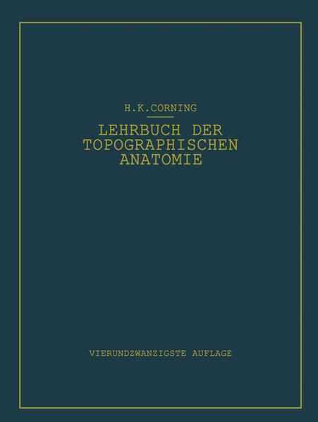 Lehrbuch der topographischen Anatomie - Coverbild