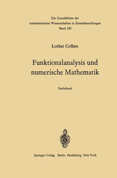 Funktionalanalysis und numerische Mathematik - Coverbild