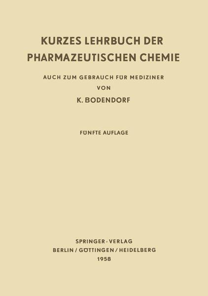 Kurzes Lehrbuch der Pharmazeutischen Chemie - Coverbild