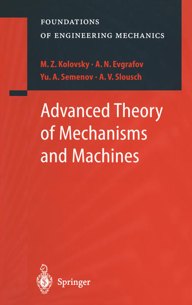 Advanced Theory of Mechanisms and Machines - Coverbild