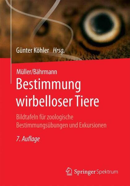 Müller/Bährmann Bestimmung wirbelloser Tiere - Coverbild