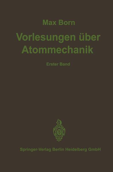 Vorlesungen über Atommechanik - Coverbild