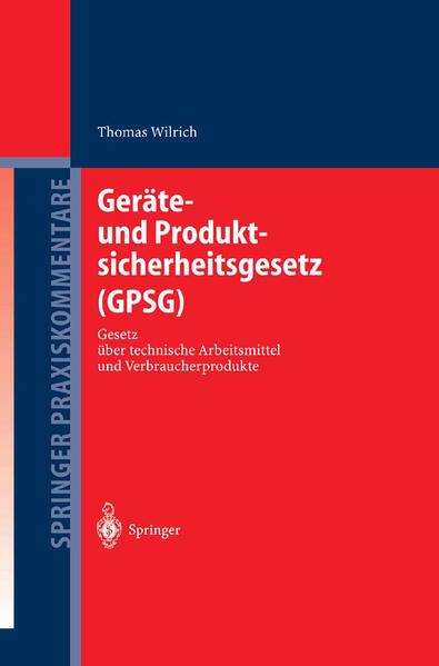 Geräte- und Produktsicherheitsgesetz (GPSG) - Coverbild