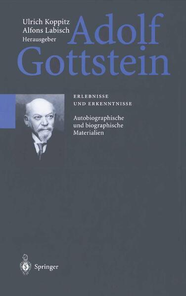 Adolf Gottstein - Coverbild