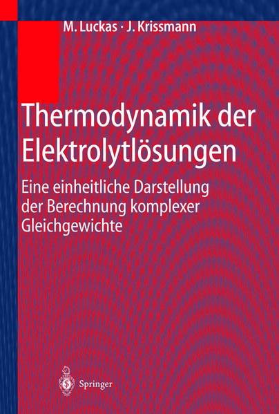 Thermodynamik der Elektrolytlösungen - Coverbild