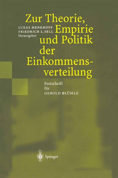 Zur Theorie, Empirie und Politik der Einkommensverteilung - Coverbild
