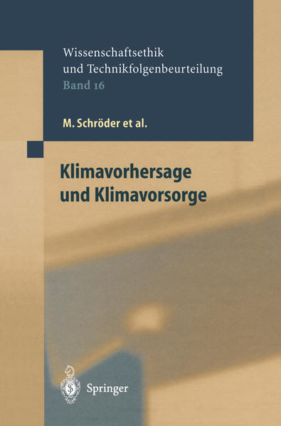 Klimavorhersage und Klimavorsorge - Coverbild