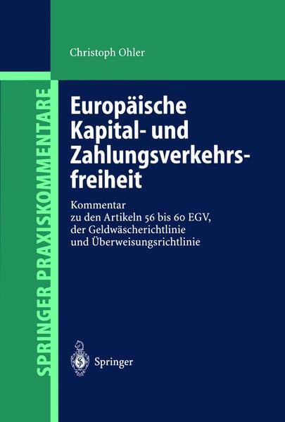 Europäische Kapital- und Zahlungsverkehrsfreiheit - Coverbild