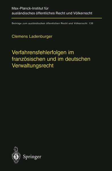 Verfahrensfehlerfolgen im französischen und im deutschen Verwaltungsrecht - Coverbild