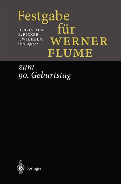 Festgabe für Werner Flume - Coverbild