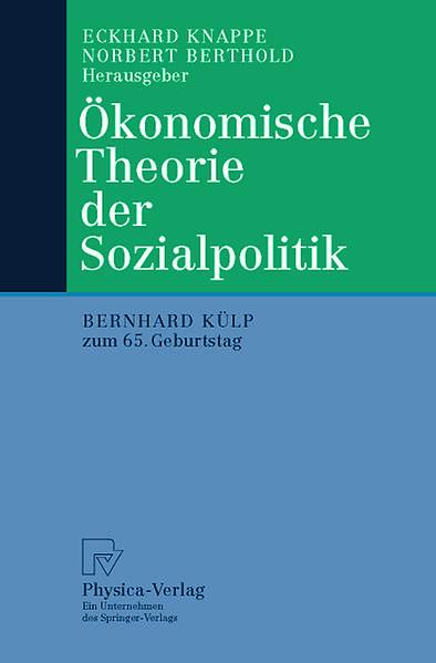 Ökonomische Theorie der Sozialpolitik - Coverbild