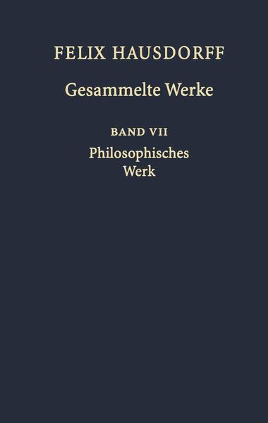 Felix Hausdorff Gesammelte Werke - Coverbild