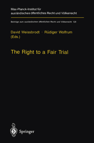 The Right to a Fair Trial - Coverbild