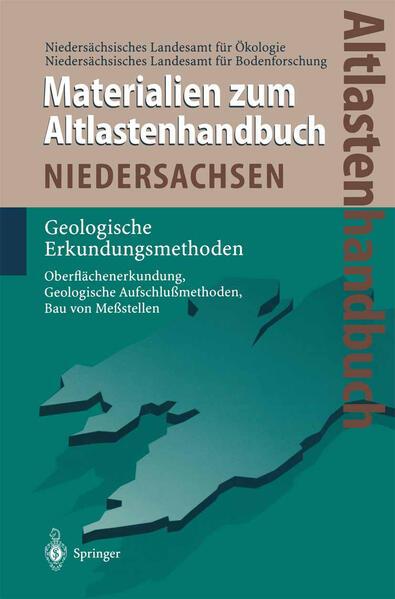 Altlastenhandbuch des Landes Niedersachsen. Materialienband - Coverbild