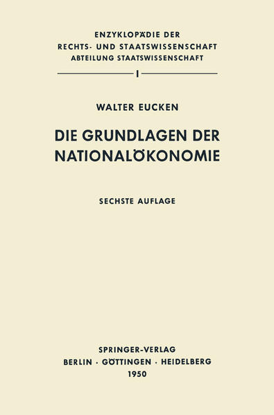 Die Grundlagen der Nationalökonomie - Coverbild