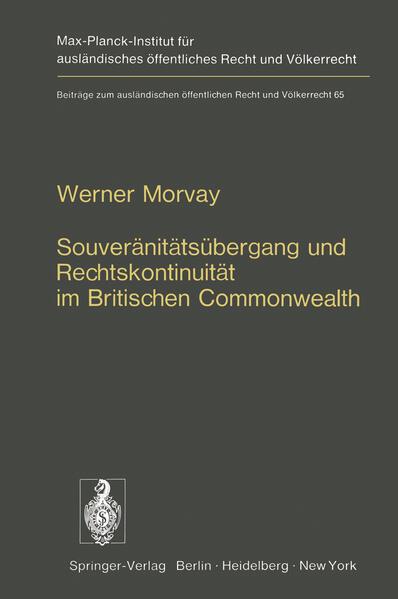 Souveränitätsübergang und Rechtskontinuität im Britischen Commonwealth - Coverbild