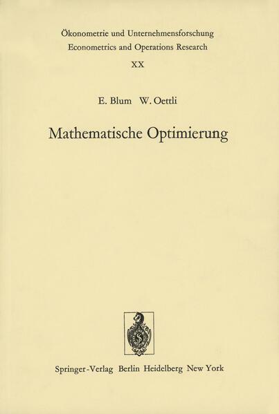Mathematische Optimierung - Coverbild