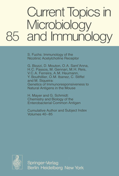 Current Topics in Microbiology and Immunology - Coverbild