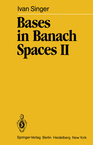 Bases in Banach Spaces II - Coverbild