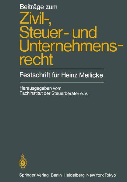 Beiträge zum Zivil-, Steuer- und Unternehmensrecht - Coverbild