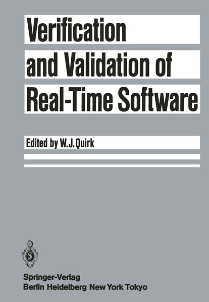 Verification and Validation of Real-Time Software - Coverbild