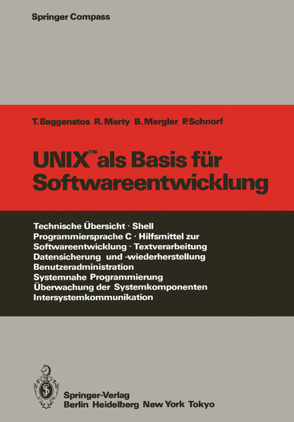 UNIX als Basis für Softwareentwicklung - Coverbild