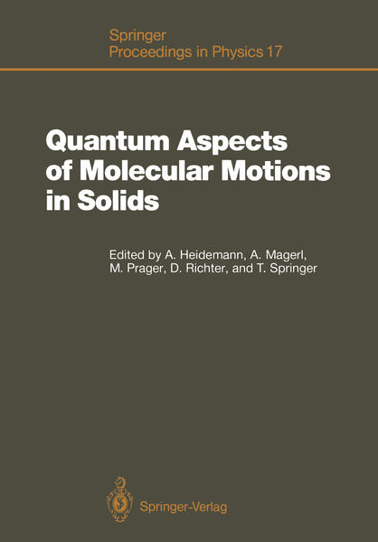 Quantum Aspects of Molecular Motions in Solids - Coverbild
