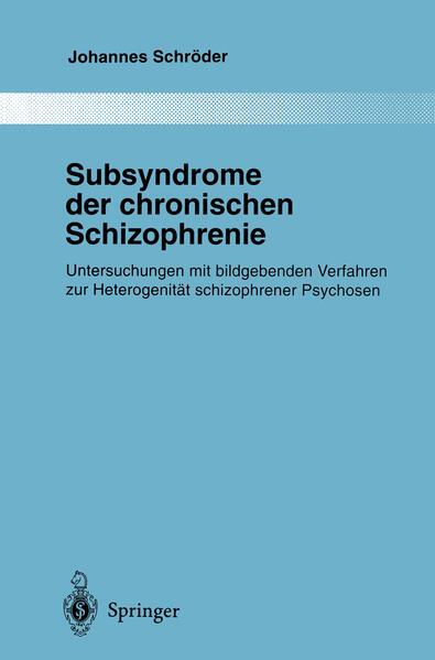 Subsyndrome der chronischen Schizophrenie - Coverbild