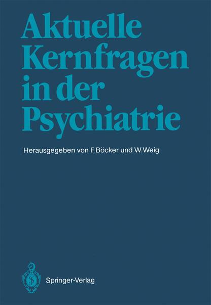 Aktuelle Kernfragen in der Psychiatrie - Coverbild