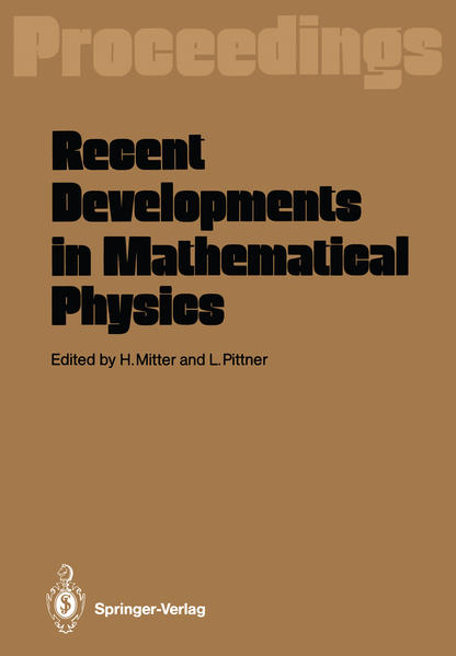 Recent Developments in Mathematical Physics - Coverbild