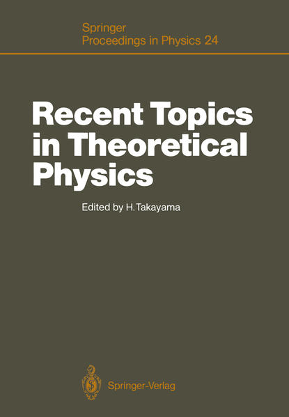 Recent Topics in Theoretical Physics - Coverbild