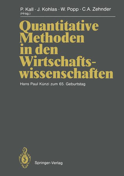 Quantitative Methoden in den Wirtschaftswissenschaften - Coverbild