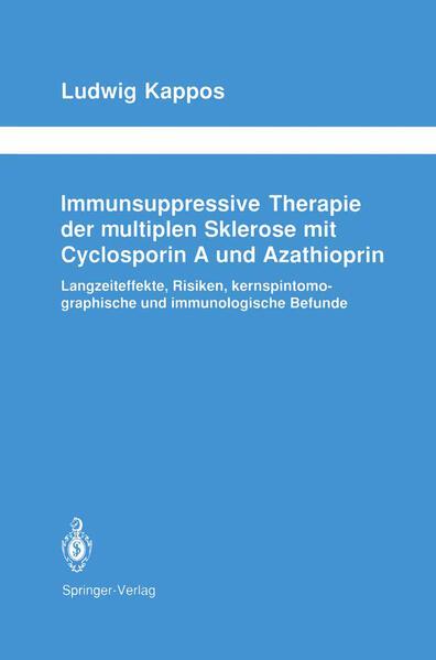 Immunsuppressive Therapie der multiplen Sklerose mit Cyclosporin A und Azathioprin - Coverbild