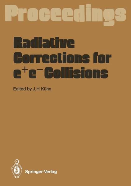Radiative Corrections for e+e- Collisions - Coverbild