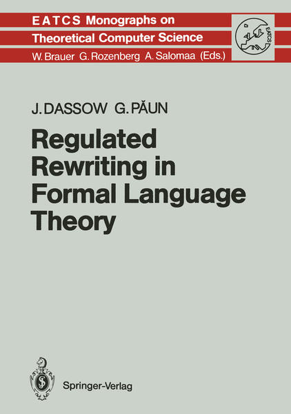 Regulated Rewriting in Formal Language Theory - Coverbild