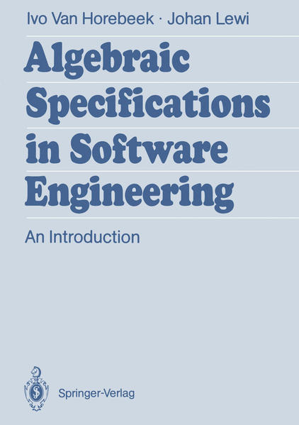 Algebraic Specifications in Software Engineering - Coverbild