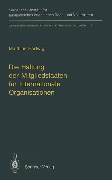 Die Haftung der Mitgliedstaaten für Internationale Organisationen - Coverbild