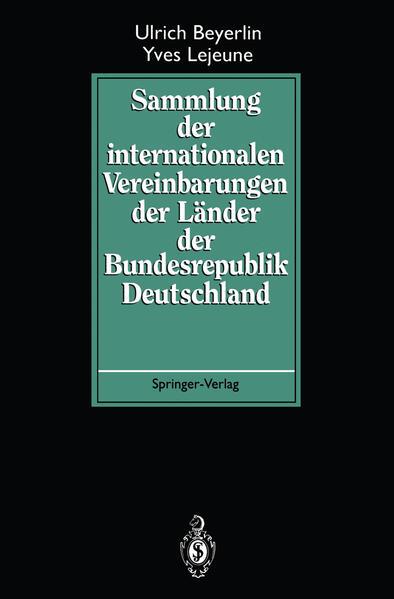 Sammlung der internationalen Vereinbarungen der Länder der Bundesrepublik Deutschland - Coverbild